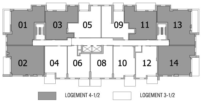 Plan d'étage – 8 à 16