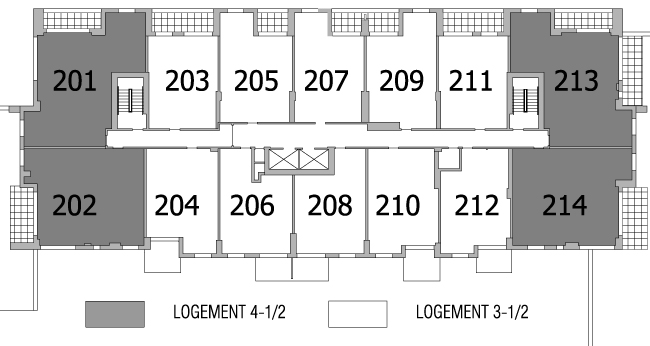 Plan d'étage 2e