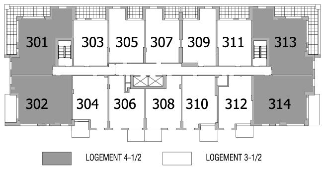 Plan d'étage 3e