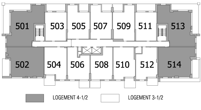Plan d'étage 5e