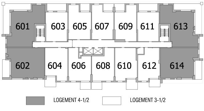 Plan d'étage 6e