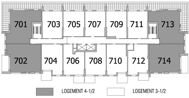 Plan d'étage 7e